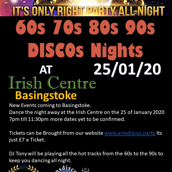 60s 70s 80s 90s night at the Irish Centre 25/1/2020