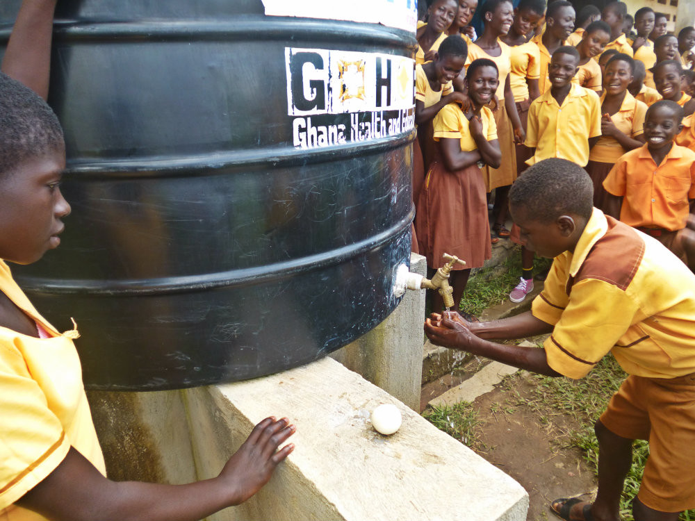 Handwashing demonstration from this year's Global Handwashing Day.