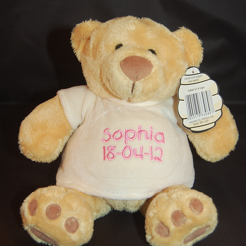 Mumbles Teddy Bear with Embroidered T-shirt