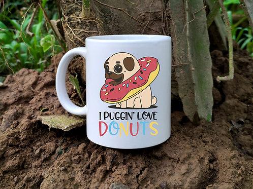 Pug Donut Mug