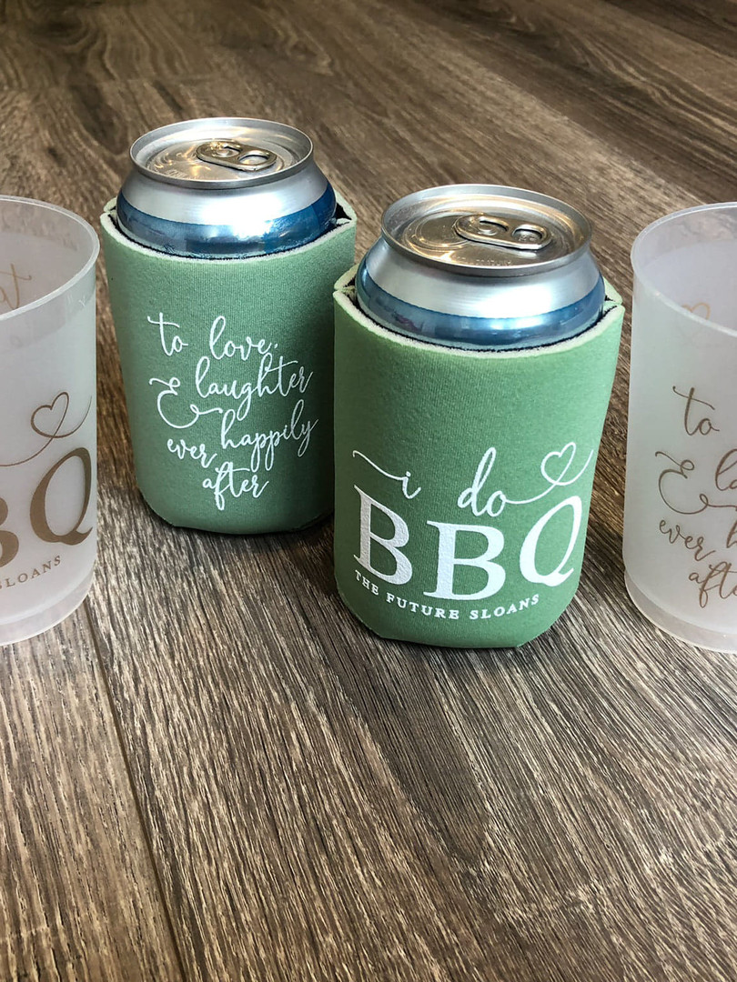 Custom Frosted Plastic Cups & Koozies