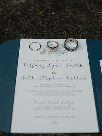 Pocket Folder Wedding Invitation - photo by Katie Whalen Photography