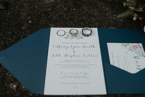 Pocket Folder Wedding Invitation - photo by Katie Whalen Photography