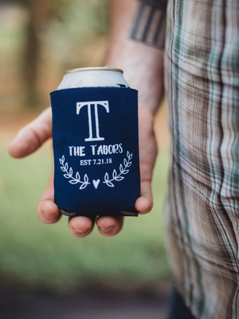 Custom Can Cooler - photo by Beasley Rustic Pho