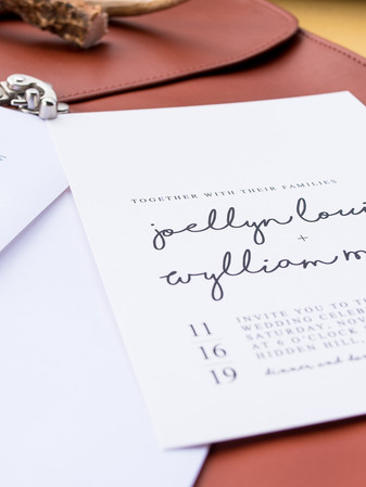 Invitation + Envelope Addressing - Reg + Kala Photography