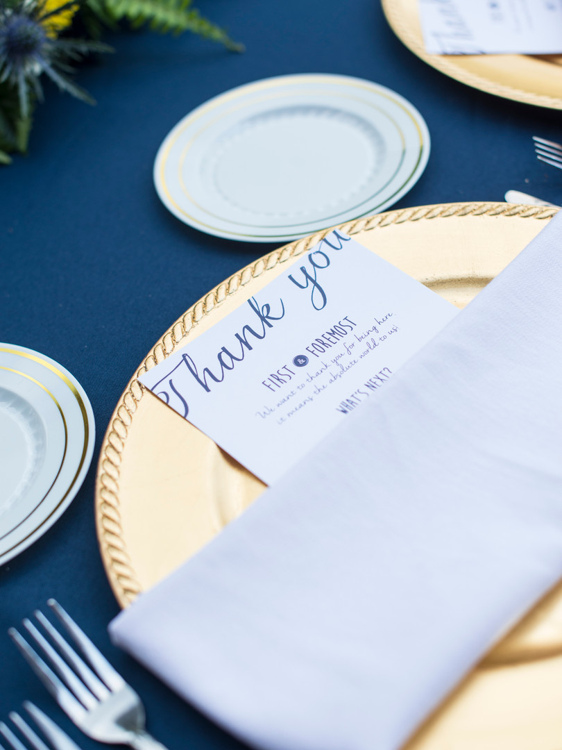 Thank You Card for Guests - photo by Courtney Grant Photography