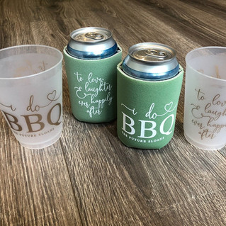 frosted cups + koozies