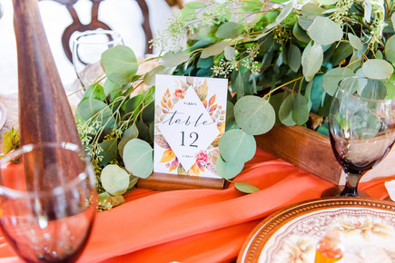 Table Numbers - Tasha Barbour Photography