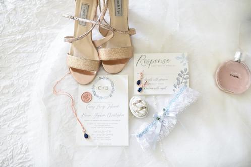 Wedding Invitation & RSVP - Radiant Photgraphy