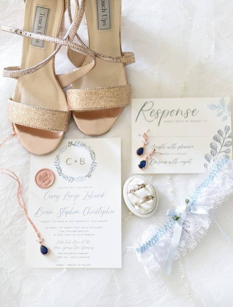 Wedding Invitation + RSVP - Radiant Photography
