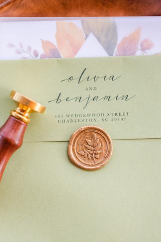 Envelope printing & Wax Seal - Tasha Barbour Photography