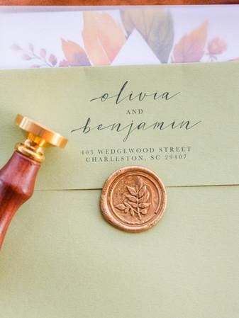 Envelope Addressing + Wax Seal - Tasha Barbour Photography
