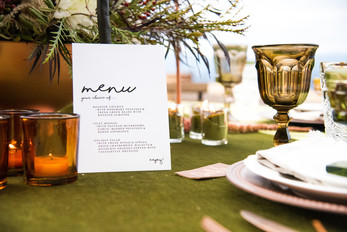 Menu Card - photo by Reg + Kala Photography