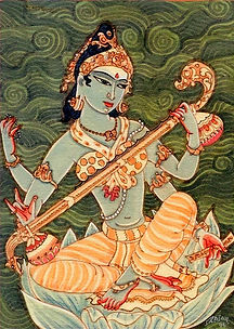 Goddess_Saraswati_-_S_Rajam_-_Indian_Rel