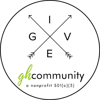 GH Community - GIVE Logo - White Fill -