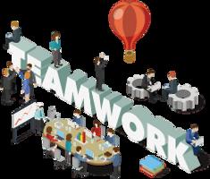LineWorks活用支援イメージイラスト