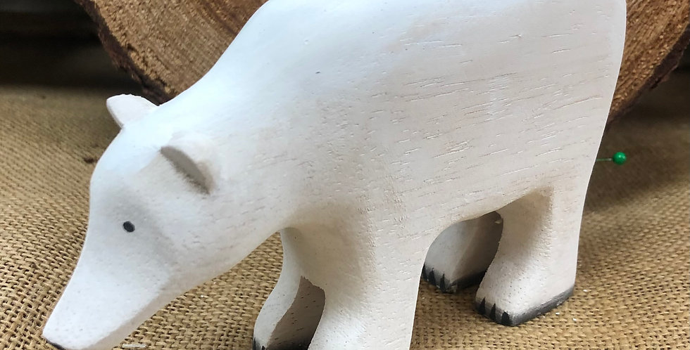 East of India Wooden Polar Bear Standing Decoration