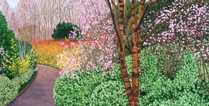 The Winter Garden Signed Open Print by Susan Entwistle