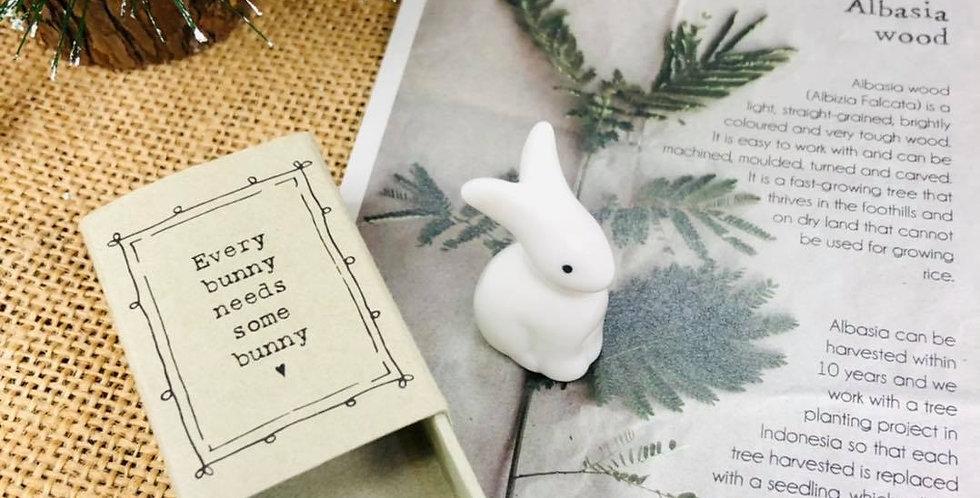 Ceramic Bunny in a Box
