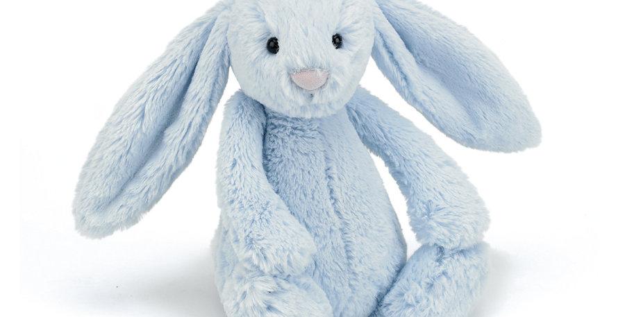 Jellycat Medium Bashful Blue Bunny