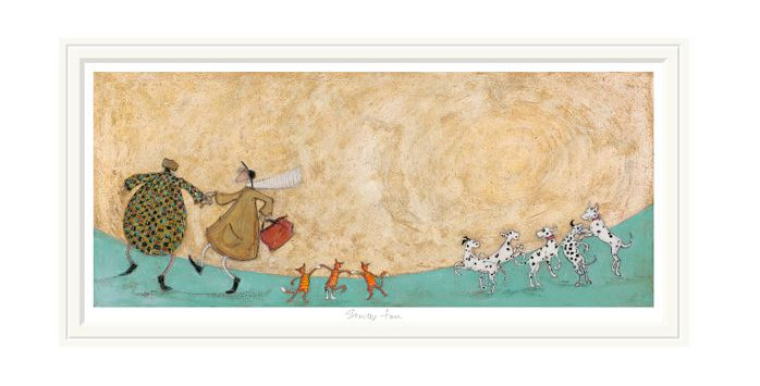 Strictly Fun Signed Limited Edition Mounted Print by Sam Toft.