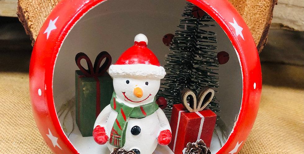 Large Snowman Light up Bauble LED