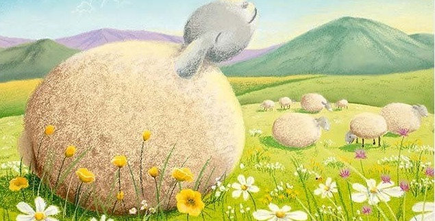 'Basking in the Sun' Signed Open Print by Lucy Pittaway