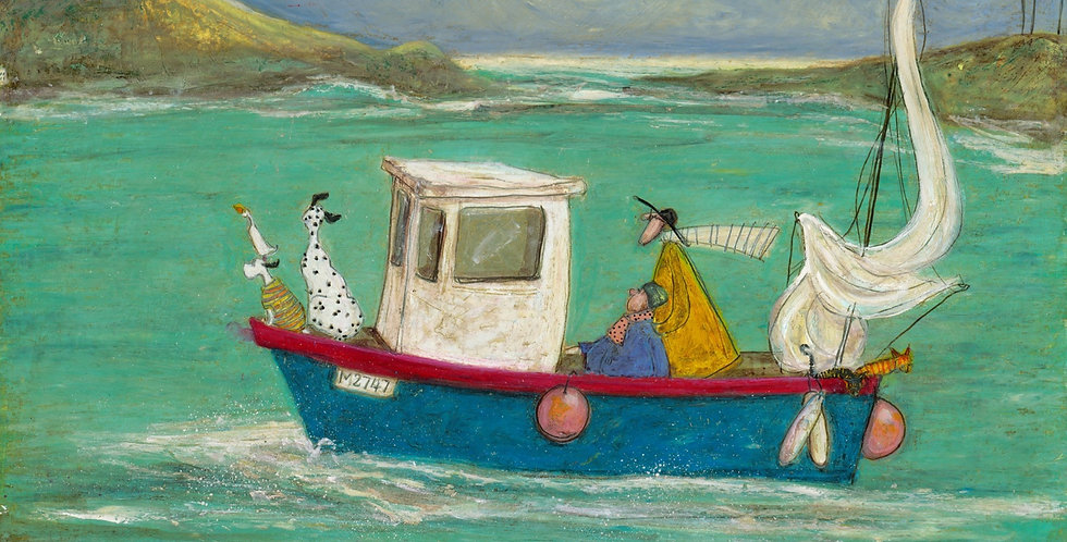 The Cornish Pasty Cruise Signed Limited Edition Print by Sam Toft