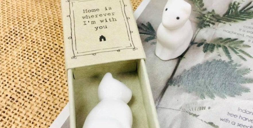 Ceramic Cat in a Box