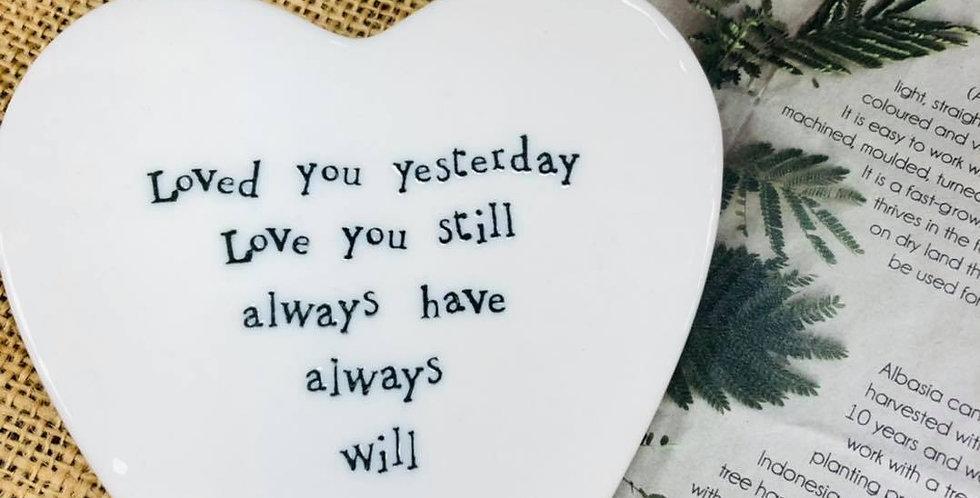 Ceramic Heart Coaster
