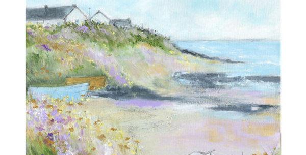 Harbour Cottages Signed Open Print by Sue Fenlon