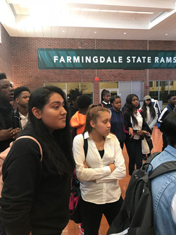 Group of students at Farmingdale College