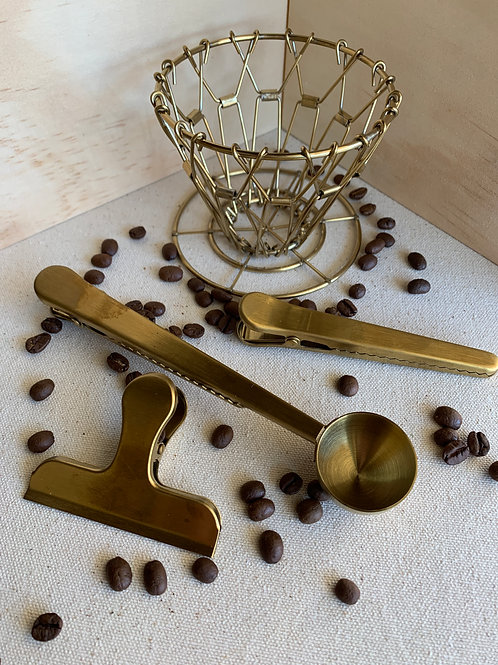 Brass Coffee Set
