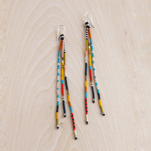 Handmade Beaded Tassel Earrings - NM Made