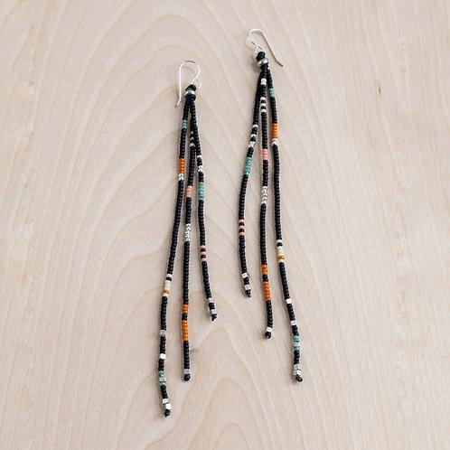 Handmade Beaded Tassel Earrings - NM Made