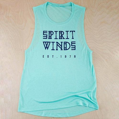 Spirit Winds Mint Racer Back Tank