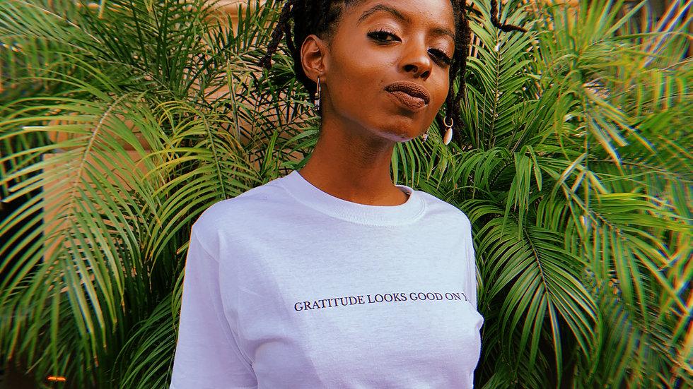 Gratitude Looks Good on You Crop Top