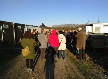 Winterse rondleiding bij ecodorp Boekel