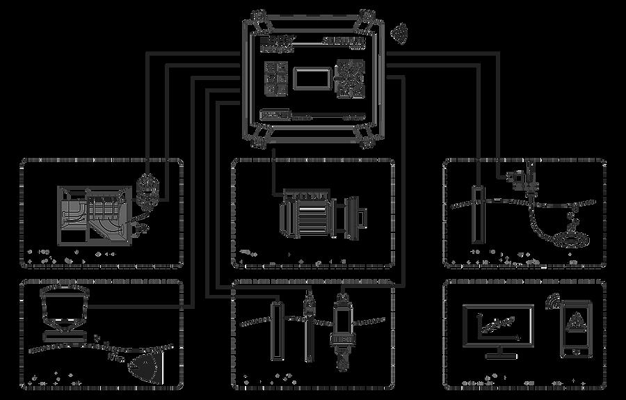 SENECT Messtechnik und Regeltechnik übernimmt alle notwendigen Steuerungs-und Kontrollfuktionen in profesionellen Aquakuktursystemen. Dazu Zählen Filterkontrolle, Steuerung der Futterautomaten, Pumpensteuerung und Sauerstoffeintrag