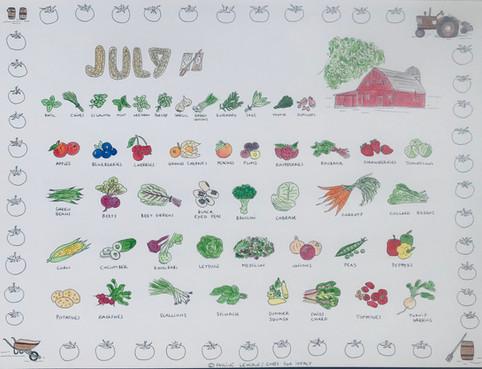 Calendar - month of July