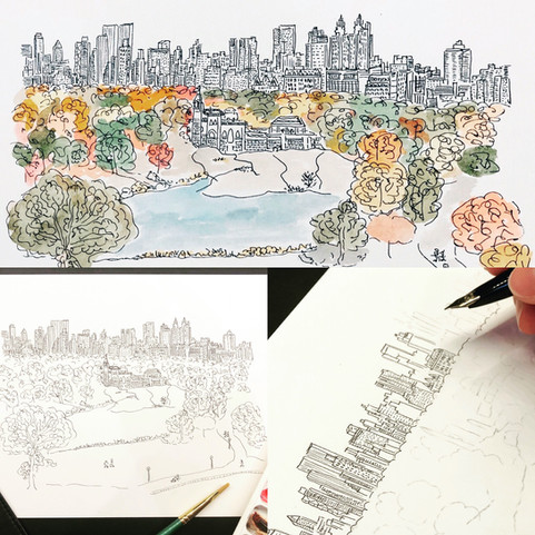 Central Park - coloring time