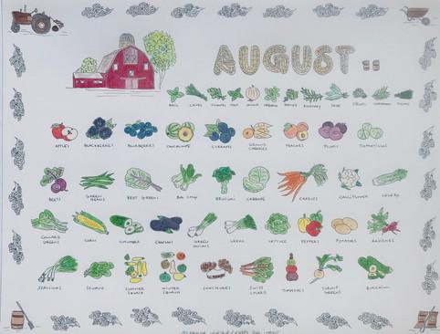 Calendar - month of August