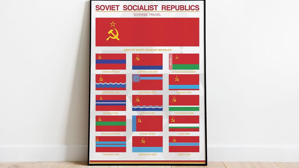 'Soviet Socialist Republics' Print