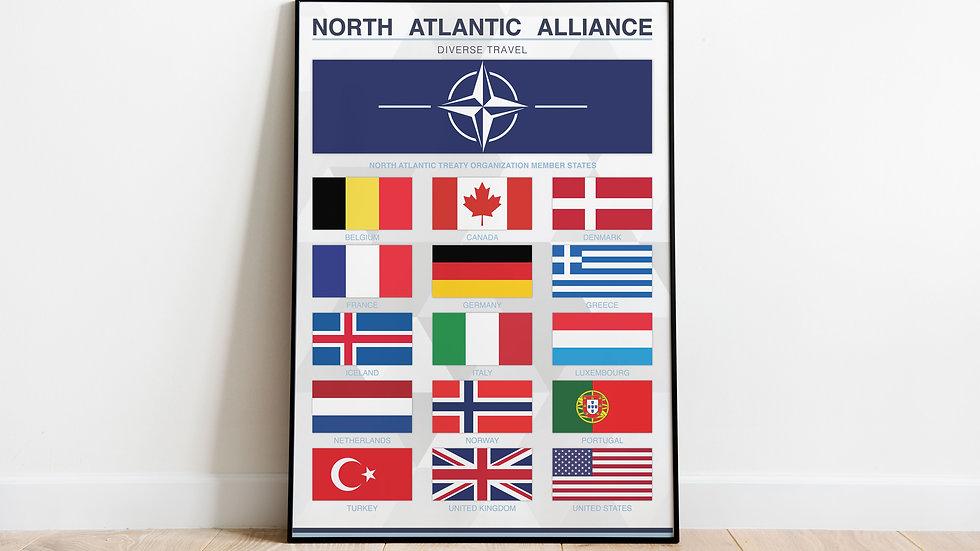 'North Atlantic Alliance' (NATO) Print
