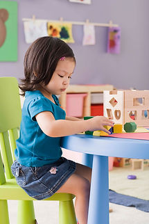 Little girl speech therapy occupational therapy