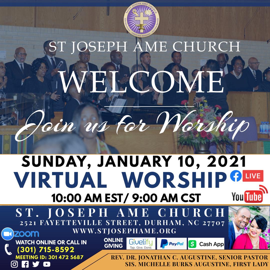 Sunday Worship Jan 10 21