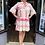 Thumbnail: Hot Pink Cotton Ibiza Aztec Tunic Dress