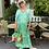 Thumbnail: Tie Dye Boho Maxi Dress in Emerald Green