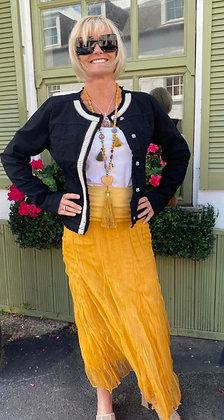 Margo Mustard Maxi Skirt
