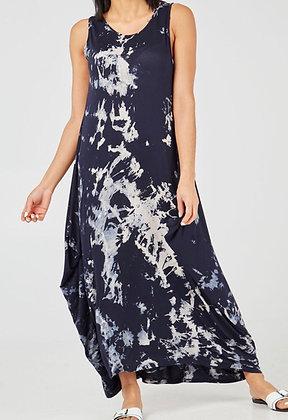 Navy Tie Dye Dress